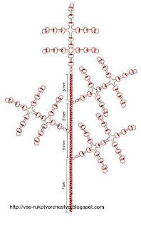 Ёлка из бисера. Схема плетения ветки