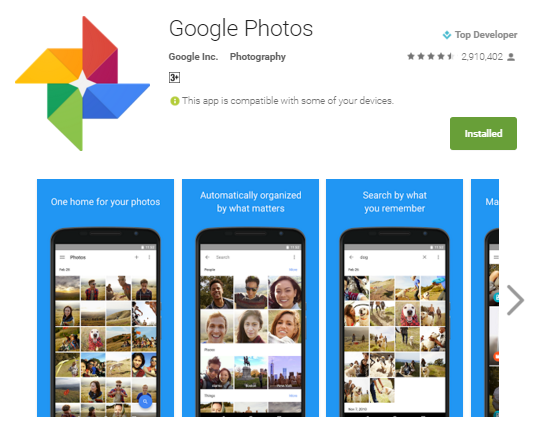 Use Google Photos to backup and drag-select multiple photos easily