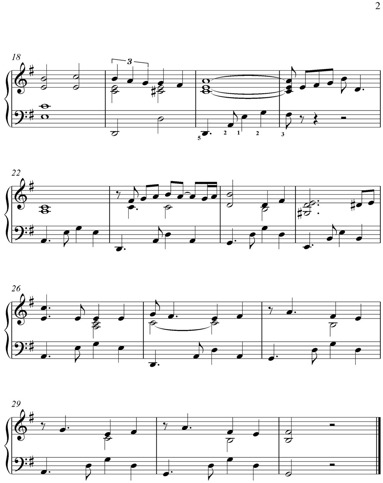 Free easy piano sheet music below the apple trees by peter edvinsson