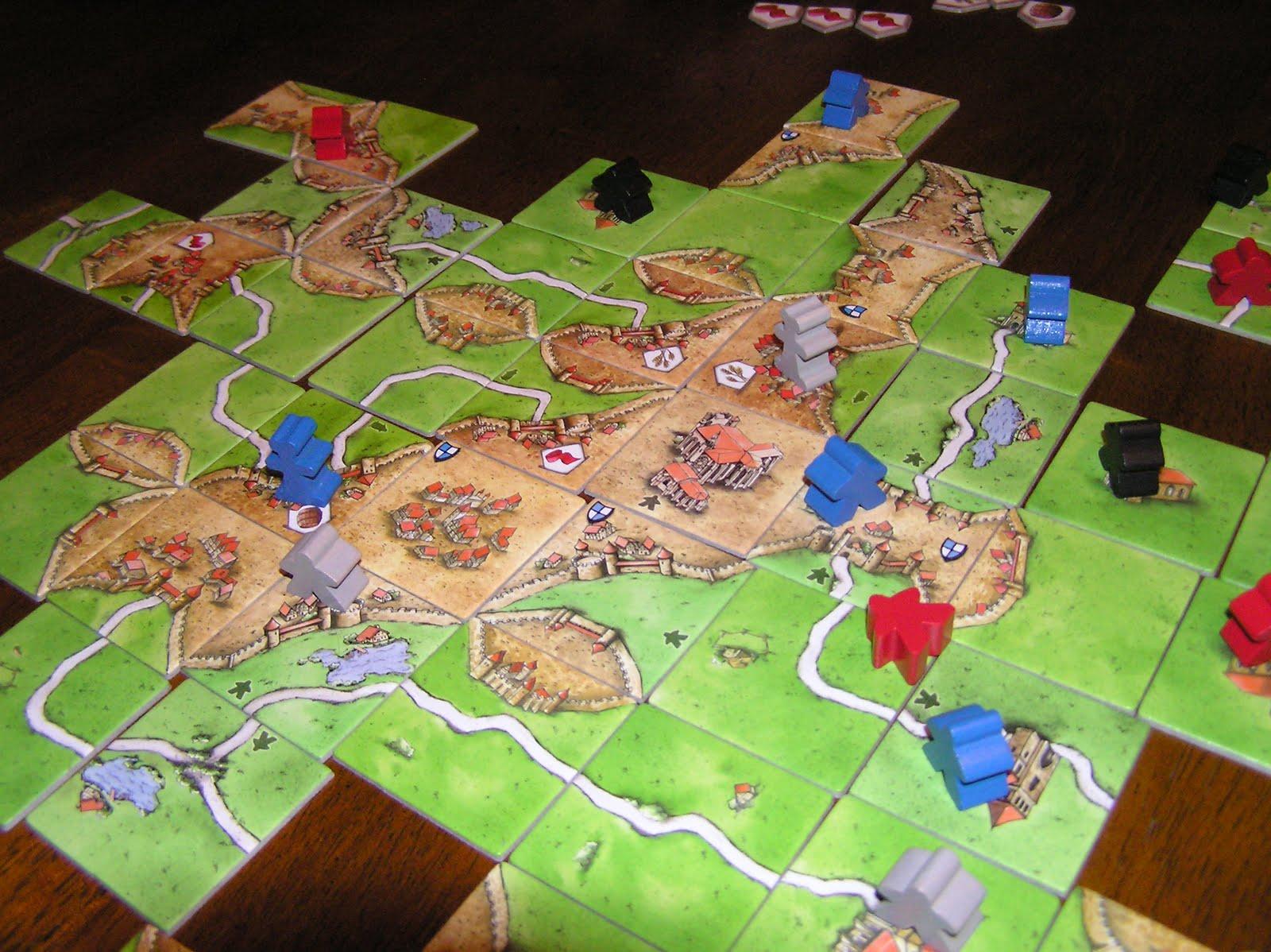 Tira la tarde juegos de mesa carcassonne y expansiones for Petropolis juego de mesa