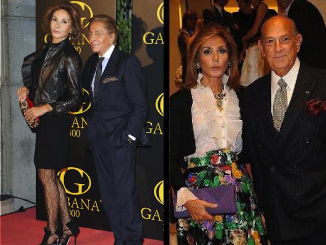 Naty Abascal con Valentino y Óscar de la Renta