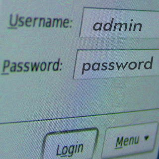 Username: admin, Password: password - weak configuration could result in big issues.