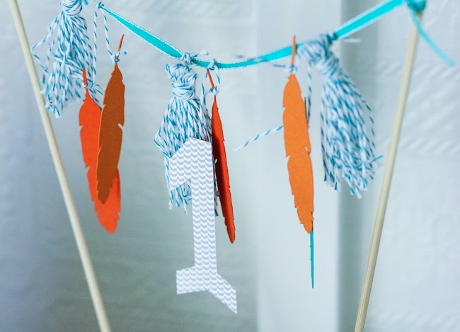 hipster baby boy first birthday cake bunting tutorial