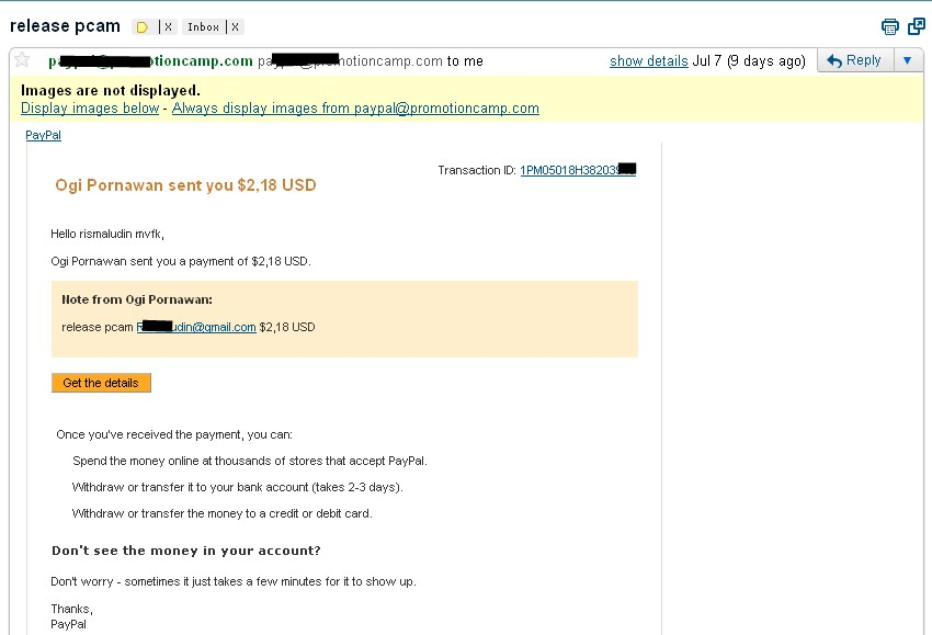 bayaran dari adsensecamp