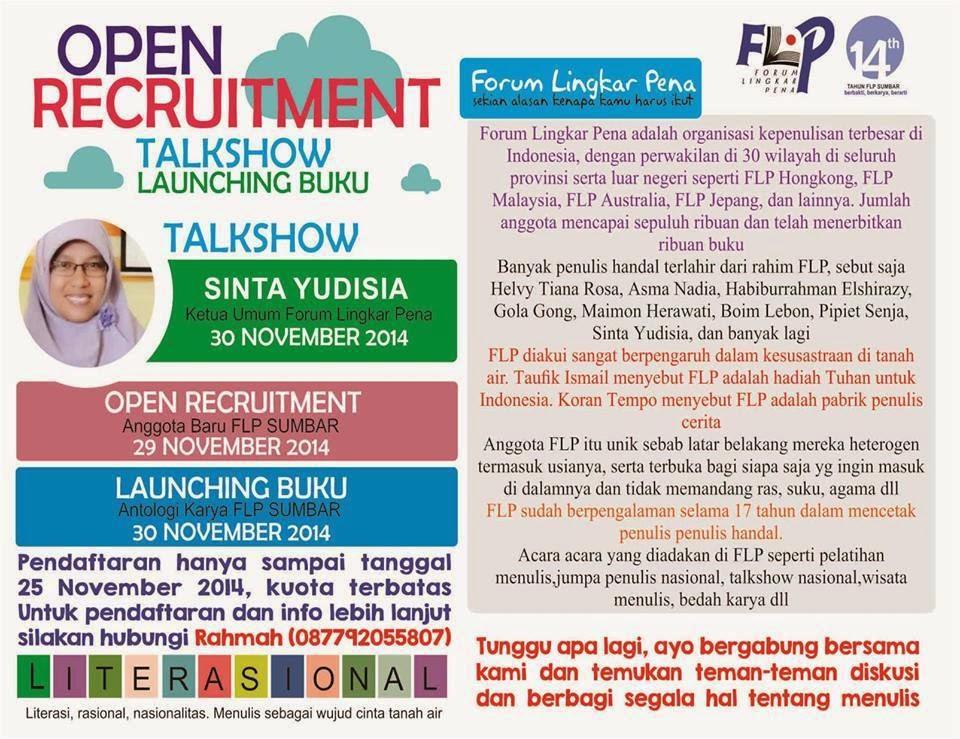 Open Recruitmennt FLP Sumbar