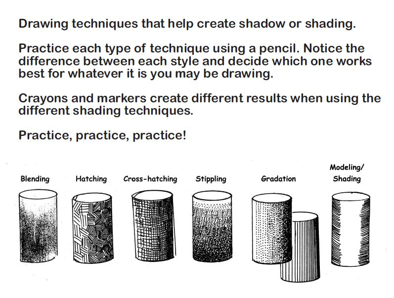 Collection Shading Techniques Worksheet Photos - Studioxcess