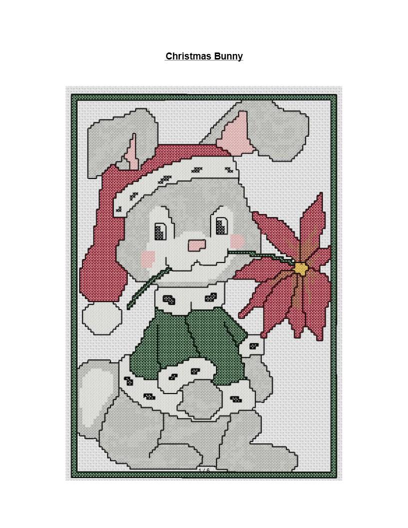 christmas bunny cross stitch pattern - Free Christmas Cross Stitch Patterns