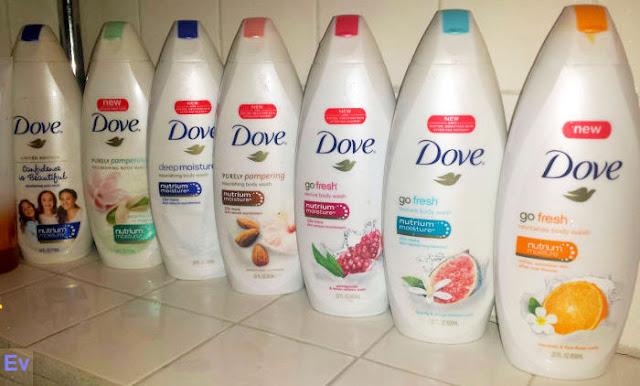 Dove bodywashes