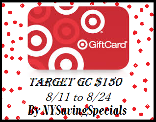 Enter the Target Gift Card $150 Giveaway. Ends 8/24.