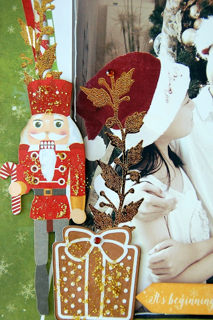 December Stories Misc Me Pages by Irene Tan using BoBunny Dear Santa Collection