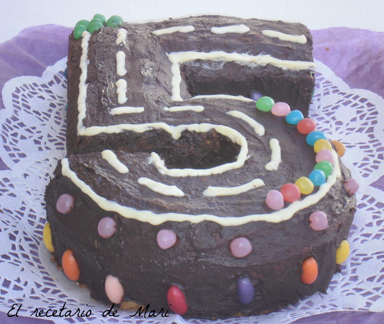 El recetario de mari tarta infantil en forma de 5 - Bizcochos cumpleanos infantiles ...