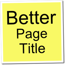 Change Title Tag Blogger