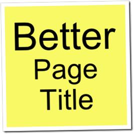 Change Title Tag Blogger