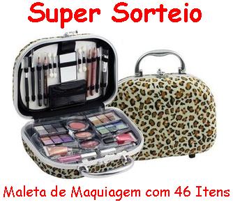 Participe do #Sorteio de uma Linda Maleta de Maquiagem com 46 Itens