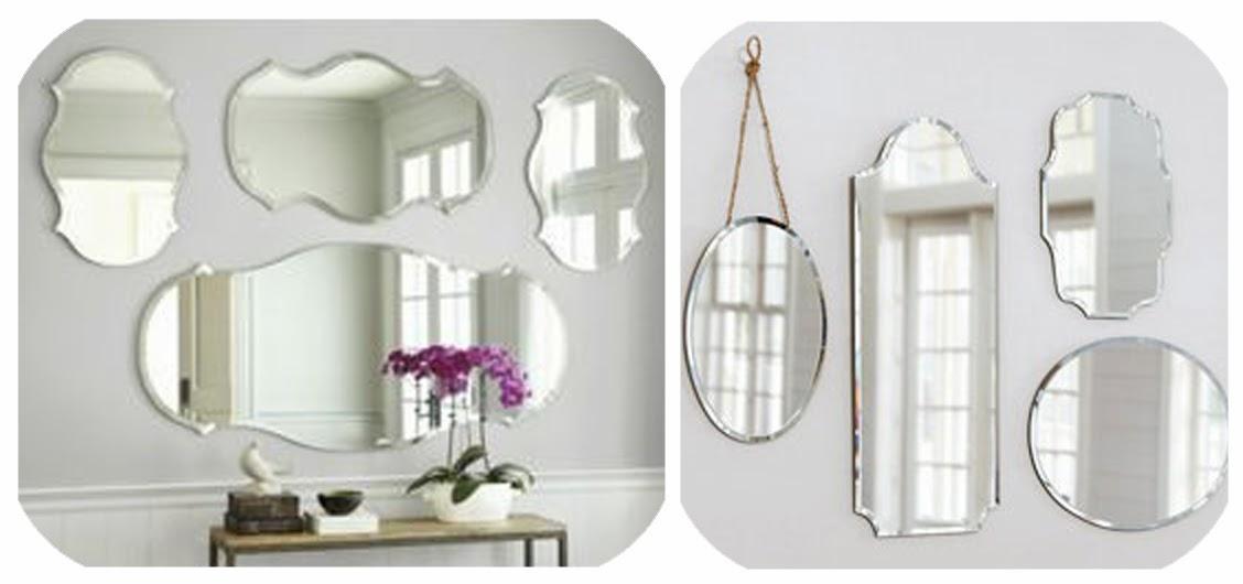 Miss cosillass deco espejo biselado for Espejos ovalados sin marco