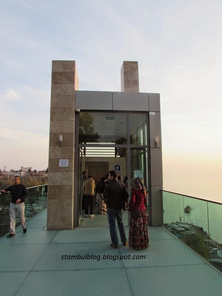 новый лифт и смотровая площадка в Анталии
