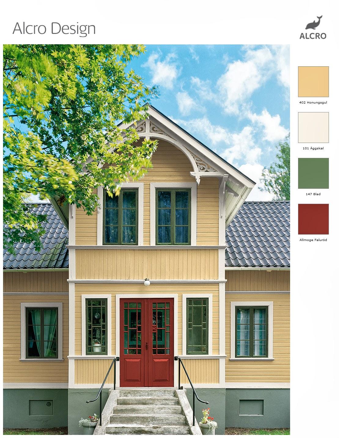 klockan elva: Färgsättning av trähus från tidigt 1900-tal