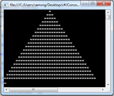 Star Pyramid Program In C#