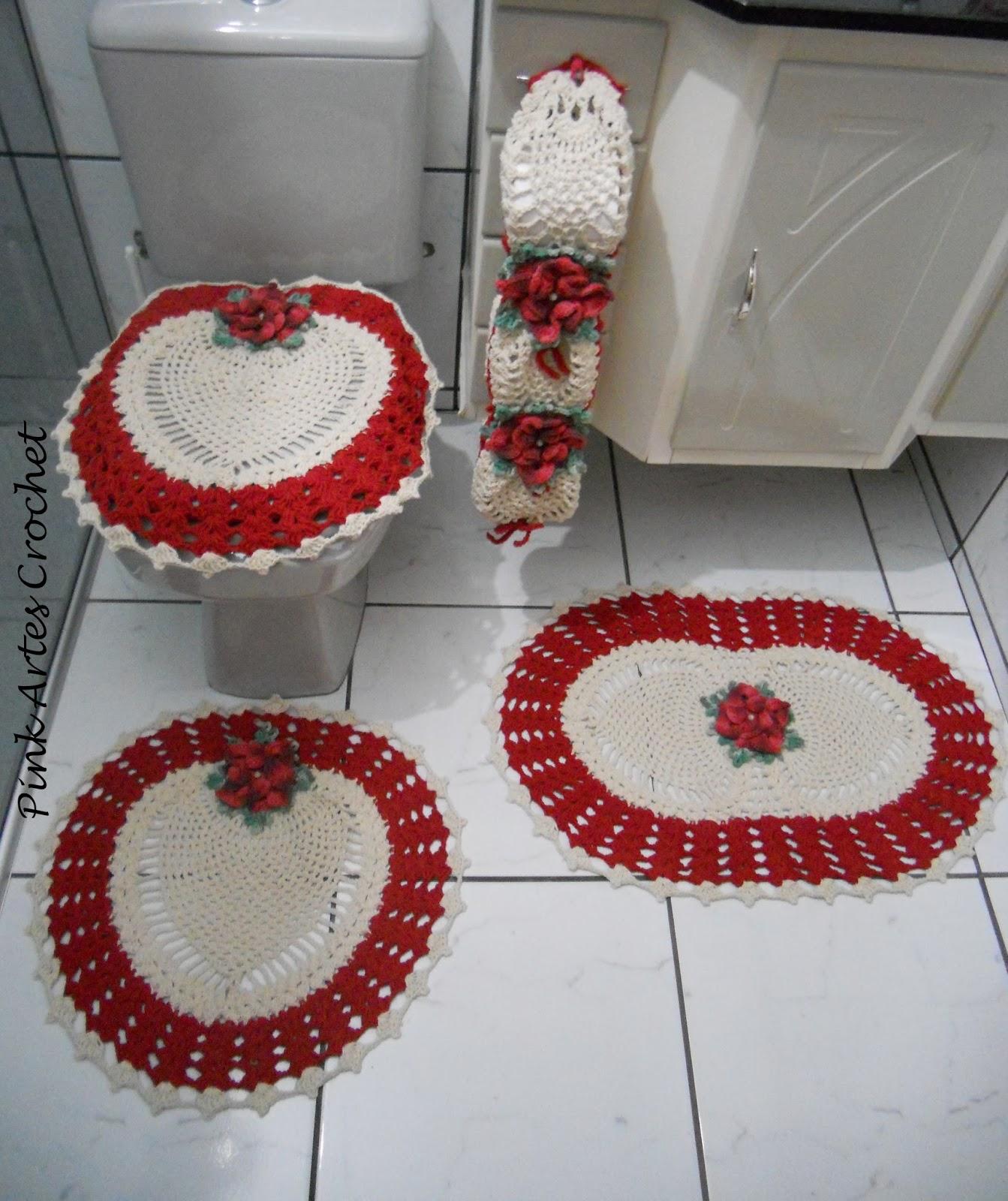 Pink Artes Croche: JOGO DE BANHEIRO TROPICAL 4 pÇS #791C1F 1343x1600 Balança De Banheiro Quanto Custa
