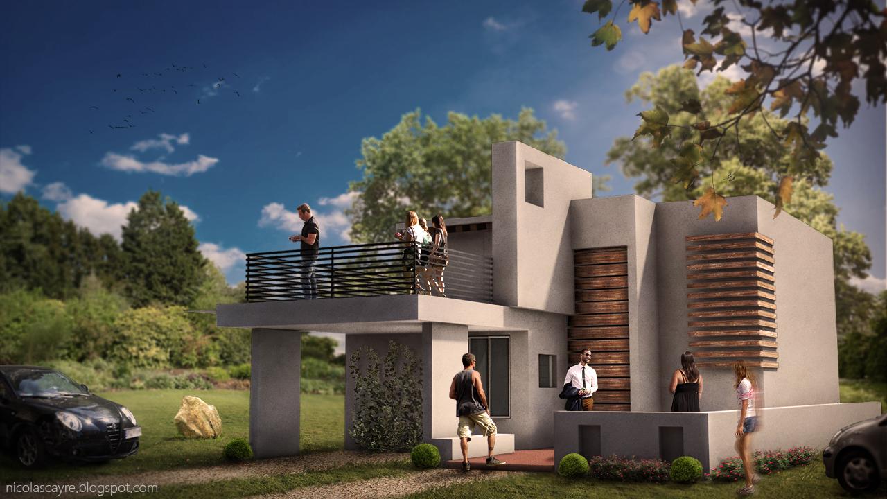 nicolas cayr incrustation rendu architectural sous photoshop. Black Bedroom Furniture Sets. Home Design Ideas