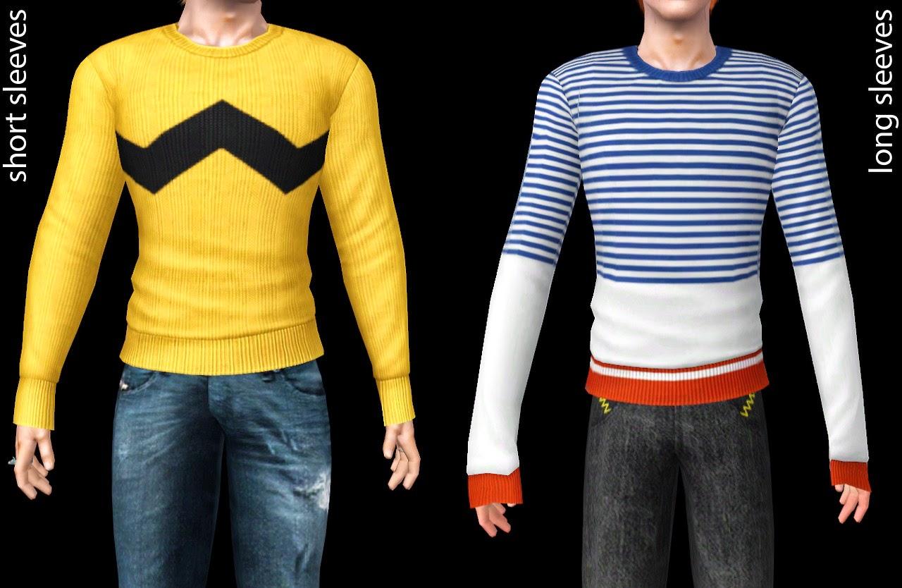 My Sims 3 Blog: Charlie Brown Sweaters by Shokoninio