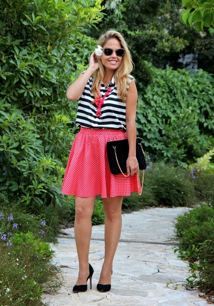 בלוג אופנה Vered'Style -  פסים ונקודות