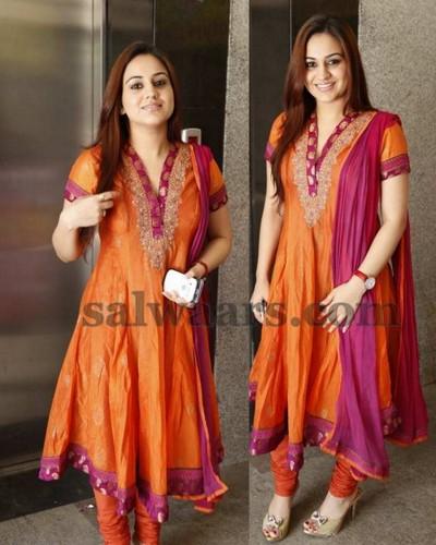 Aksha Orange Salwar Kameez