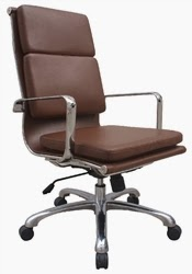 Hendrix Brown Leather Contemporary Executive Chair