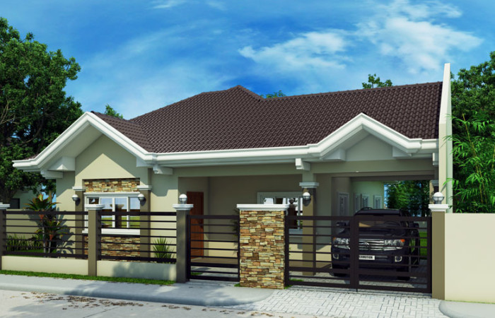 Free estimate of small bungalow house bahay ofw for Model house bungalow type