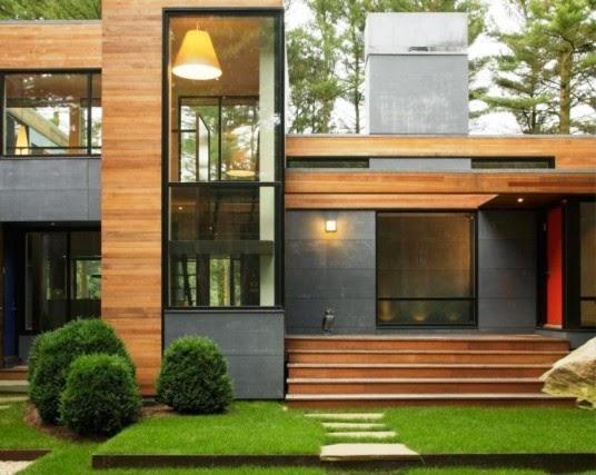 conseils déco et relooking: Design Extérieur : Moderne Maison en Bois