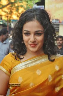 Nithya-Menon-Stills-in-Saree-at-Malini-22-Palayamkottai-Audio-Launch