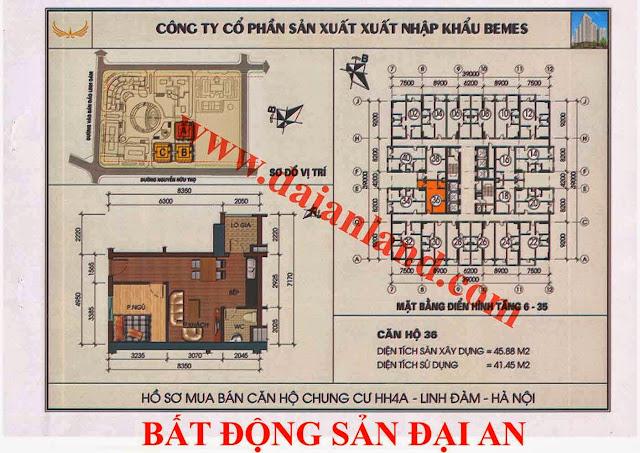 Căn hộ số 36 - Chung Cư HH4A Linh Đàm