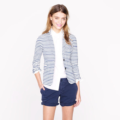 J.Crew Maritime Striped Blazer
