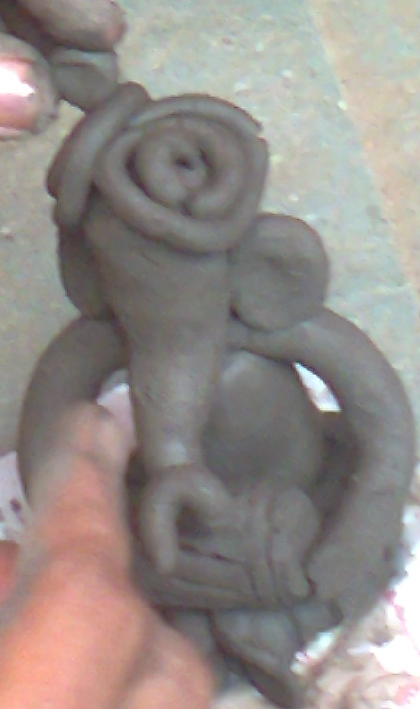 ganesh idol teeth making