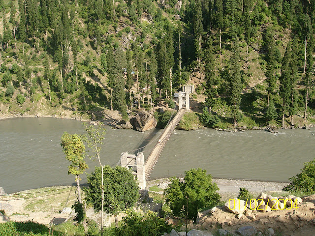 bridge on river of neelum kel