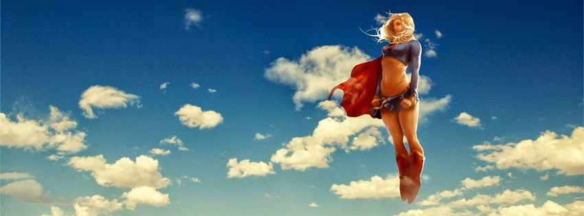 Super girl sky cover photo for facebook
