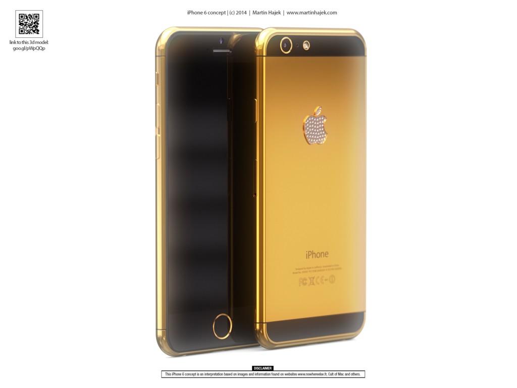 Concepto iPhone6 en oro