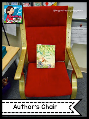 writing workshop author's chair