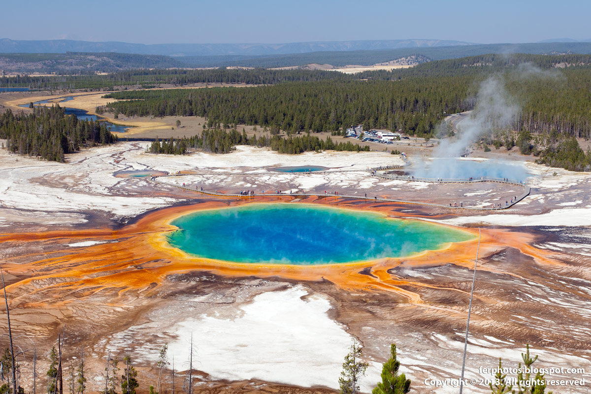 Grand Prismatic Pool third biggest hot spring in the world Yellowstone vivid colors