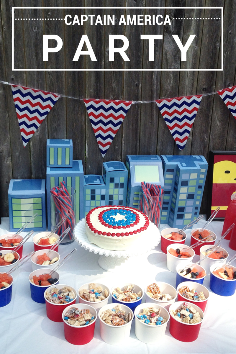 Captain America Party #HeroesEatMMs #CollectiveBias