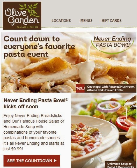 Olive garden coupons october 2019