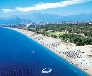 Antalya beaches in summer
