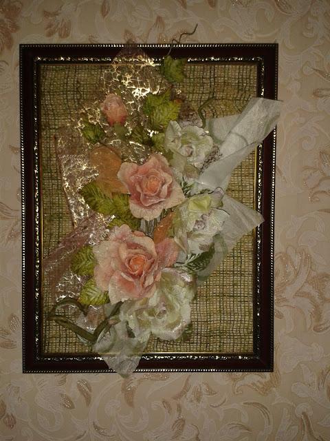 Картина из цветов своими руками фото из