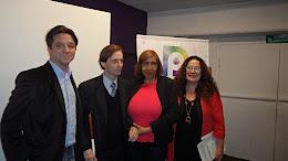 Maria Elena Naddeo con Lohana Berkins y Martin Canevaro