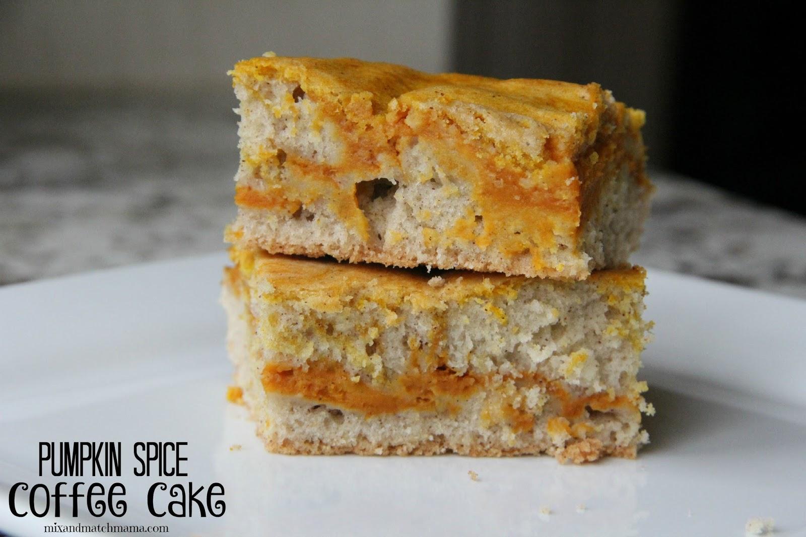pumpkin spice coffee cake mix and match mama