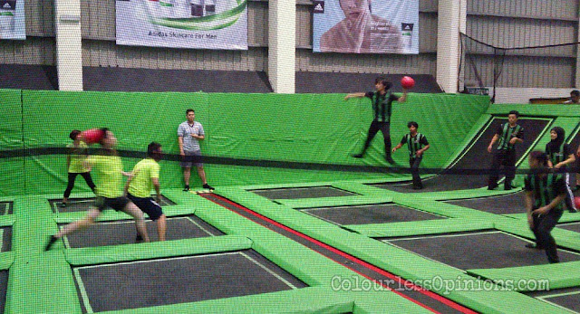 Jump Street Malaysia vs. COTY  Trampoline Dodgeball 1