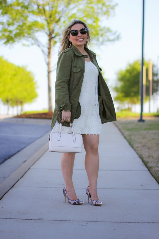lace dress and fun jacket