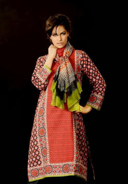 Khaadi Unstitched Winter Polyester Viscose Collection 2013