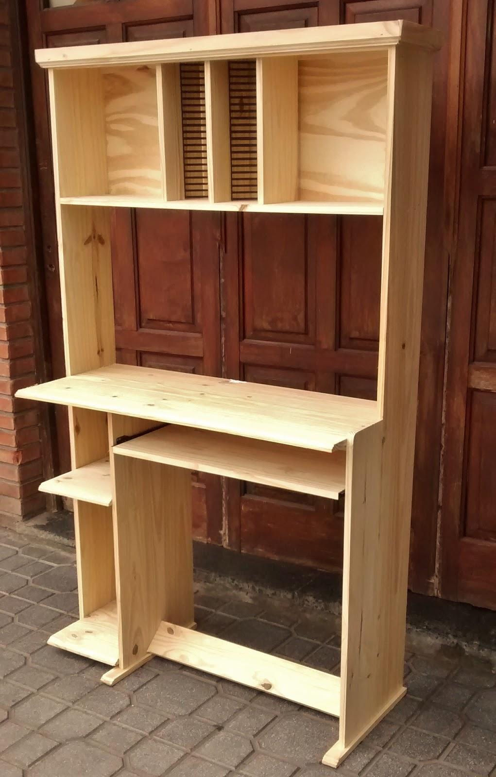 Pichon muebles escritorio de pino doble alzada - Escritorio de pino ...