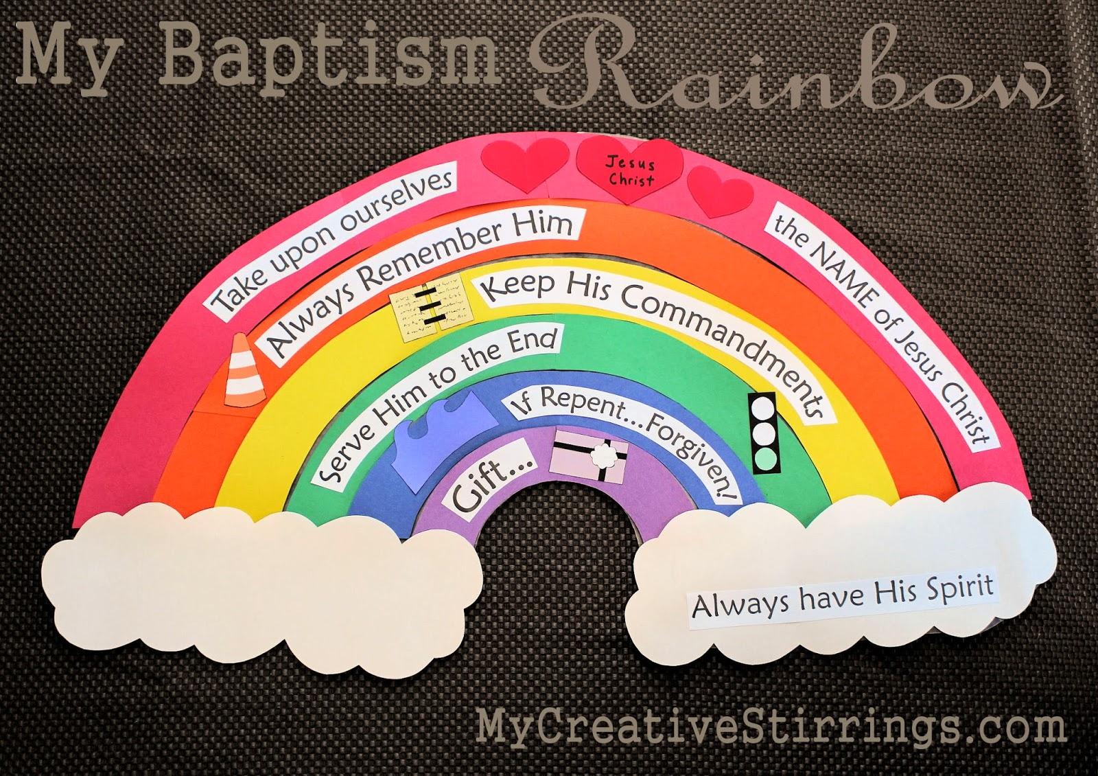 Scrapbook ideas rainbow - Baptism Talk Idea